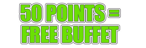 50 point Buffet Tuesdays