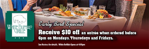 White Buffalo Early Bird Special